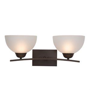 Alta Peak Collection 2-Light Vanity in Coffee