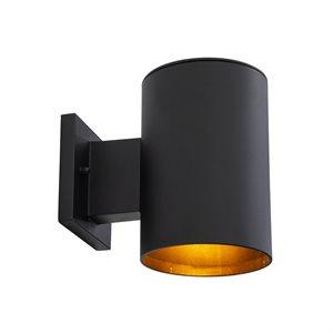 1 Light Exterior in Matte Black Finish