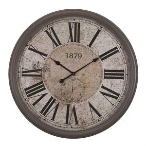 Circula wall clock with glass